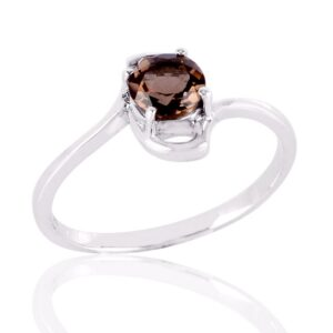 Natural Round Smoky Quartz Ring Price