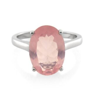 Oval Rose Quartz Ring Price