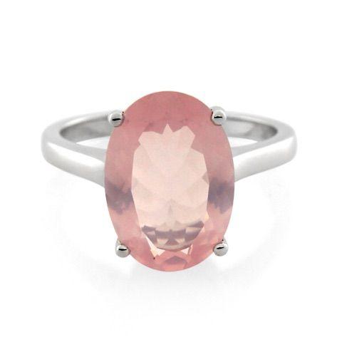 Oval Rose Quartz Ring Price