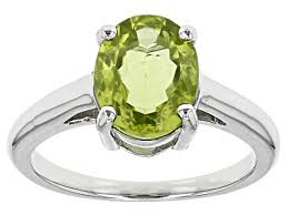 Oval Shape Peridot Ring Price