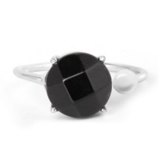 Round Black Onyx Ring Price