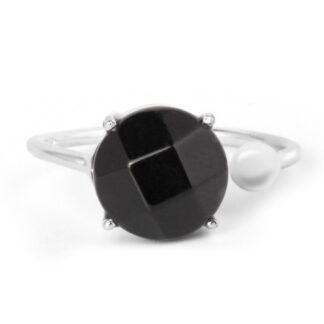 Round Black Onyx Ring Price