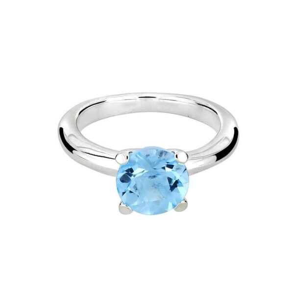 Round Blue Topz Ring Price