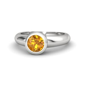 Round Citrine Ring Price