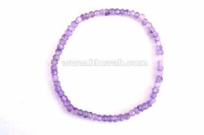 Amethyst Faceted 3-4mm Size Bracelet, amethyst bracelet, amethyst faceted bracelet, amethyst 3-4mm bracelet, amethyst cut stone bracelet, amethyst