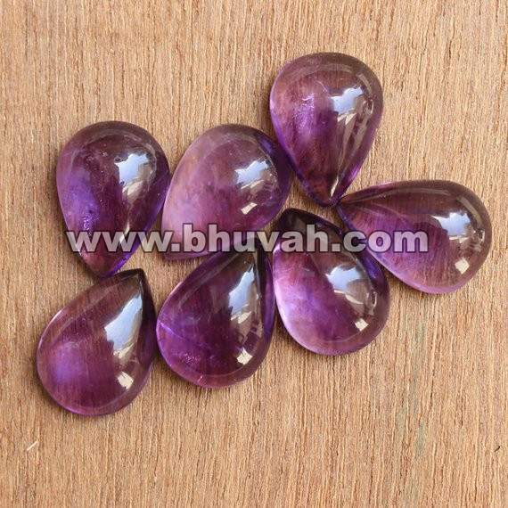 Amethyst pear shape cabochon 10x7 mm per gram price