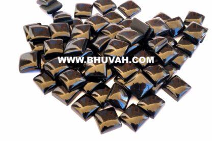 Black Onyx Square Shape 10x10 mm Stone Cabochon Gemstone Price