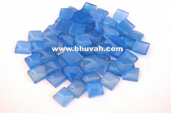 Blue Chalcedony Square Shape 10x10 mm Stone Gemstone Cabochon Price
