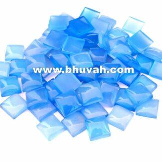 Blue Chalcedony Square Shape 10x10 mm Stone Gemstone Cabochon Price