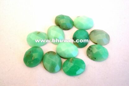 Faceted Chrysoprase 8x10 mm Oval Stone Gemstone Price