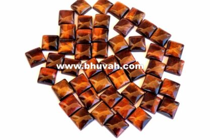 Red Tiger Eye Square Shape Stone 10x10 mm Gemstone Cabochon Price