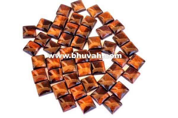 Red Tiger Eye Square Shape Stone 10x10 mm Gemstone Cabochon Price