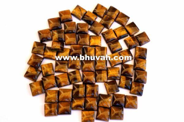 Tiger Eye Square 10x10mm Stone Cabochon Gemstone Price