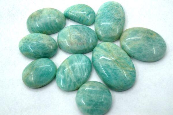 amazonite prices, gemstones, cabochons, 10 pieces stones