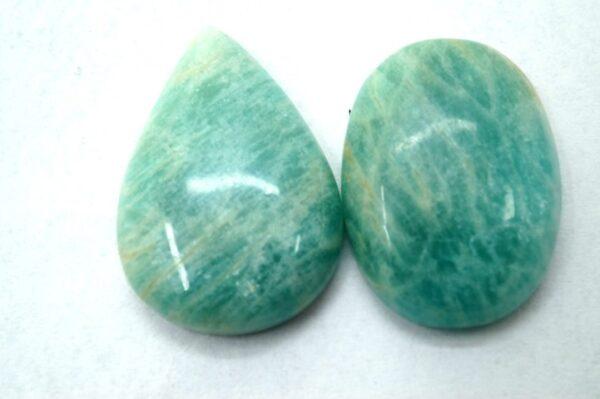 amazonite stone price 2 piece gemstone cabochon