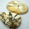 brecciated mookaite gemstone price 2 piece cabochon stone