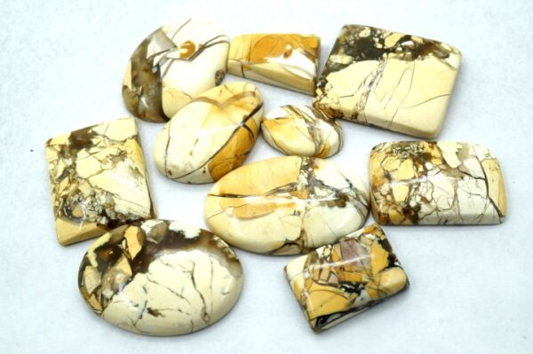 brecciated mookaite stones prices 10 pieces gemstones cabochons