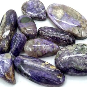 charoite stones gemstones cabochons 10 pieces prices