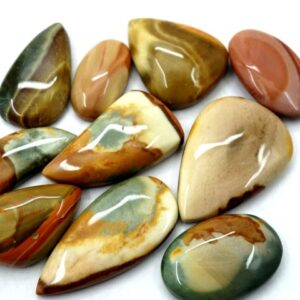polychrome jasper gemstone cabochon stone 10 pieces price