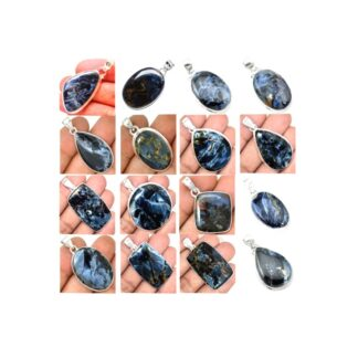 Blue Pietersite Stone Gemstone Cabochon Solid .925 Solid Silver Pendant Price