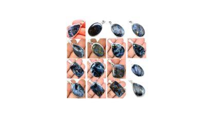 Blue Pietersite Stone Gemstone Cabochon Solid .925 Solid Silver Pendant Price