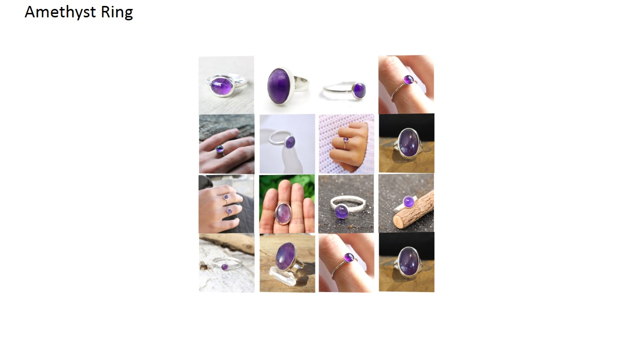 amethyst stone natural gemstone cabochon 925 sterling silver ring