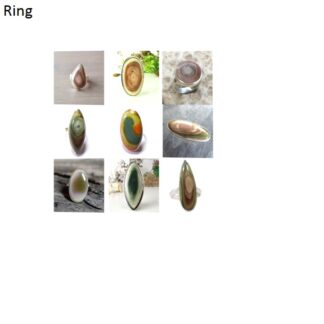 imperial jasper stone natural gemstone cabochon 925 sterling silver ring