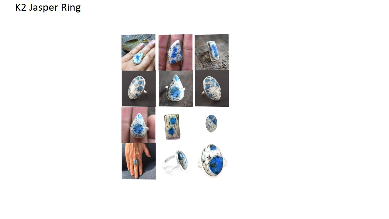 k2 jasper stone natural gemstone cabochon 925 sterling silver ring