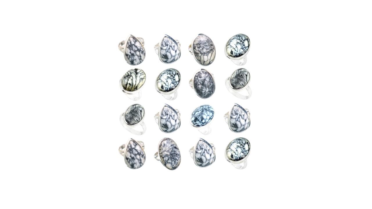 0c15898e8eab5 pinolith jasper stone natural gemstone cabochon 925 sterling silver ring
