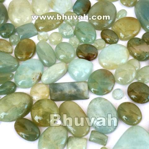 aquamarine stone cabochon gemstone 20 pieces price