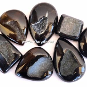 black agate druzy stone gemstone cabochon 10 pieces price