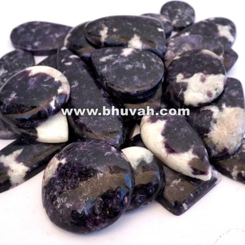 blue lepidolite stone gemstone cabochon 500 carat price
