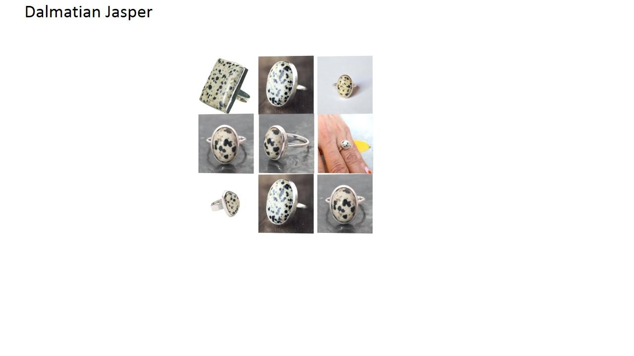 520437aea76f2 dalmatian jasper stone natural gemstone cabochon 925 sterling silver ring