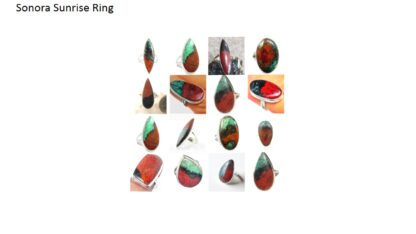 sonora sunrise stone natural gemstone cabochon 925 sterling silver ring
