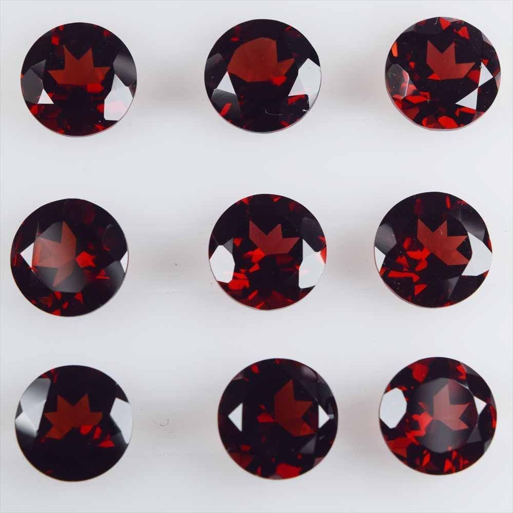 Natural Garnet 5mm Round Faceted Cut Stone Per Carat Price