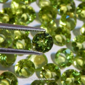 Natural Peridot 10mm Round Faceted Cut Stone Per Carat Price