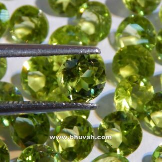 Natural Round 7mm Peridot Faceted Cut Stone Price Per Carat