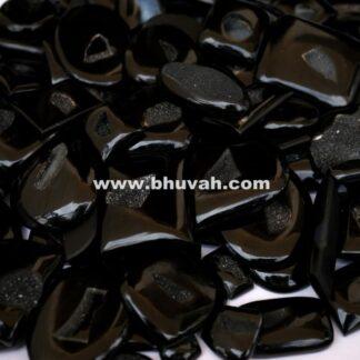 Black Druzy Stone Gemstone Cabochon Price Per Kilogram
