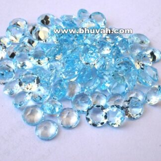 Blue Topaz Stone Natural Quality 7 mm Round Shape Price Per Carat