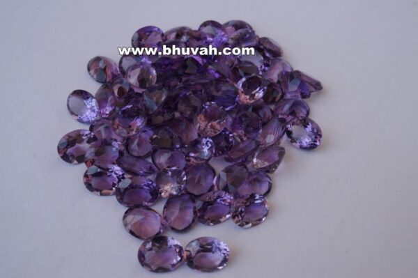 Amethyst 10x8mm Oval Shape Faceted Cut Stone Gemstone Price Per Carat