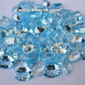 Blue Topaz 9x7mm Oval Shape Faceted Cut Stone Gemstone Price Per Carat