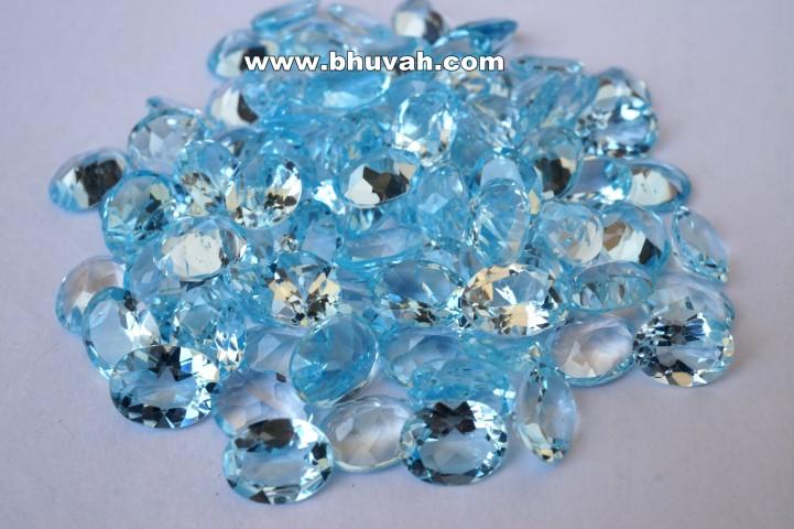 Blue Topaz 9x7mm Oval Shape Faceted Cut Stone Gemstone Price Per Carat