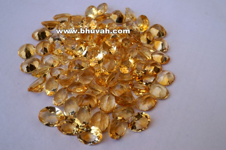 Citrine 10x8mm Oval Shape Faceted Cut Stone Price Per Carat