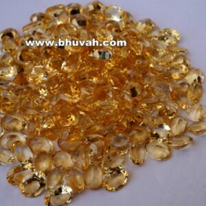 Citrine 9x7mm Oval Shape Faceted Cut Stone Gemstone Price Per Carat