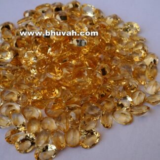 Citrine 9x7mm Oval Shape Faceted Cut Stone Gemstone Price Per Carat