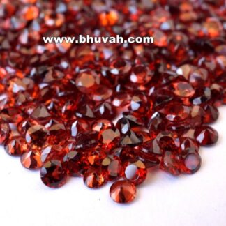 Garnet 3mm Round Faceted Cut Stone Gemstone Price Per Carat