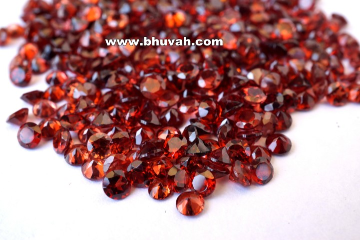 Garnet 3mm Round Faceted Cut Stone Gemstone Price Per Carat