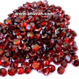 Garnet 5mm Round Shape Faceted Cut Stone Gemstone Price Per Carat