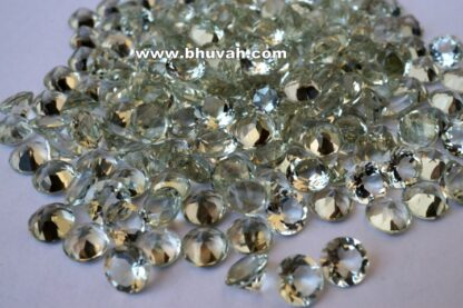 Green Amethyst 7mm Round Shape Faceted Cut Stone Gemstone Price Per Carat