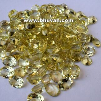 Lemon Quartz 9x7mm Oval Shape Faceted Cut Stone Gemstone Price Per Carat